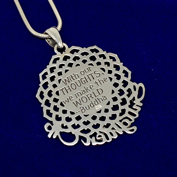 Enlighten Up World Sterling Silver Pendant
