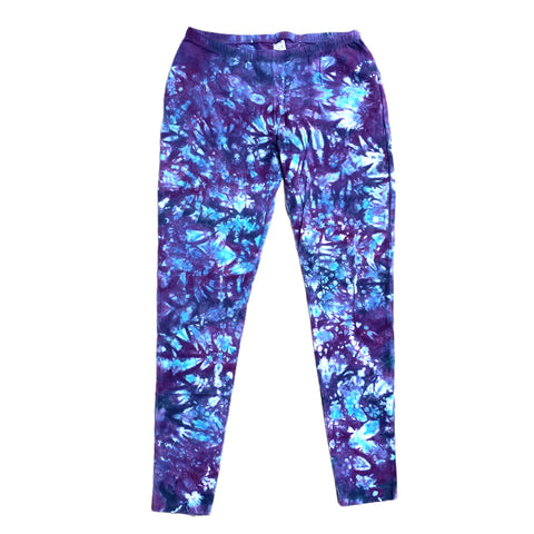 Purple & Blue Tie Dye Leggings - Sml, Med & Lrg