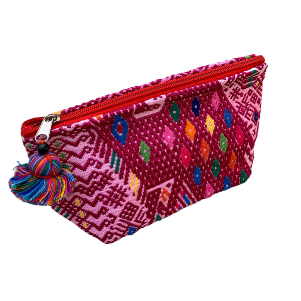 Small Huipil Fabric & Plastic Lined Everything Bag