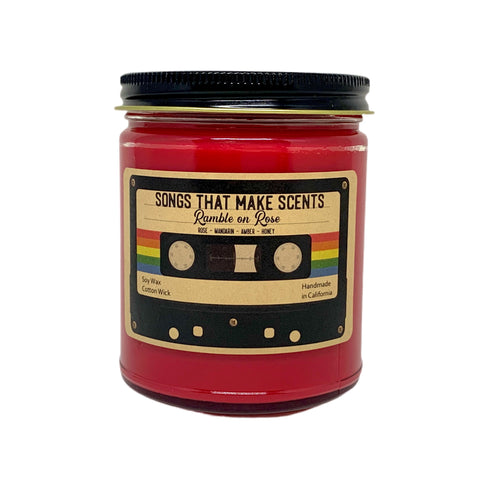 Ramble on Rose Scented 8oz Soy Candle by Songs That Make Scents