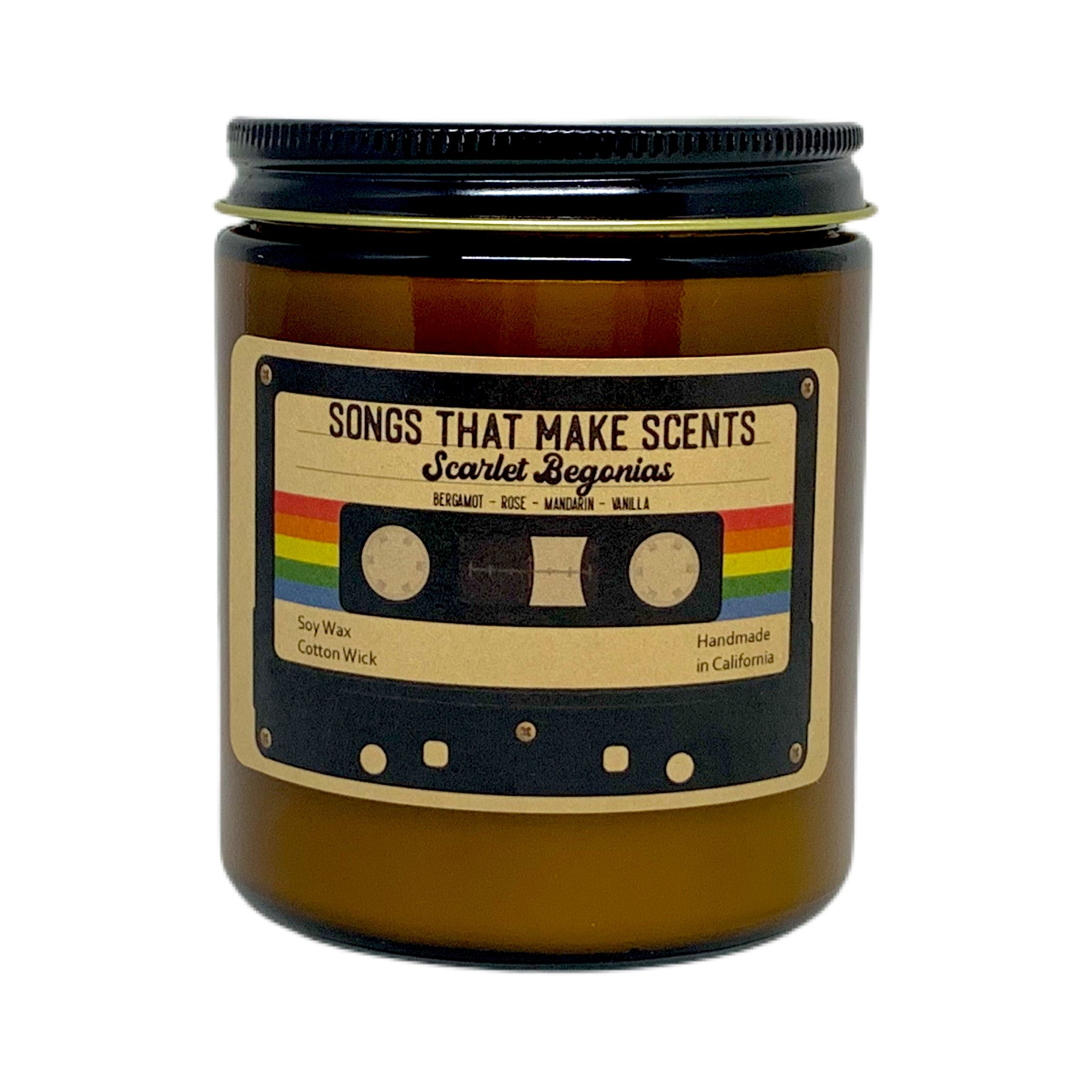 Scarlet Begonias Scented Soy Candle by Songs That Make Scents - Various sizes
