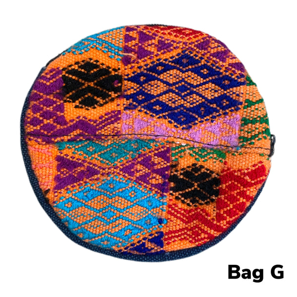 Handmade Colorful Round Coin/Treasure Padded Pouch