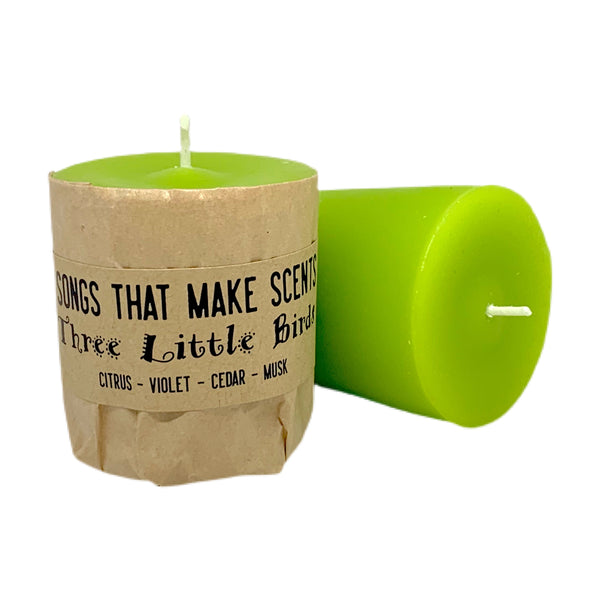 Three Little Birds Scented Votive Candles by Songs That Make Scents