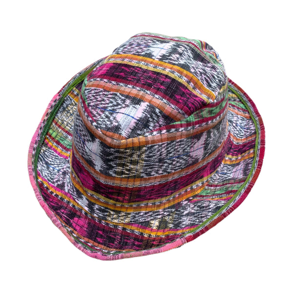 Handmade Guatemalan Corte Fabric Fedora Style Hat - Size Large Collection