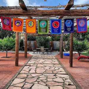 New X-Large Prayer Flags!!! Grateful Lyrics Chakra Flags!