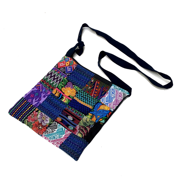 Patchwork Huipil Cross Over Bag from Guatemala