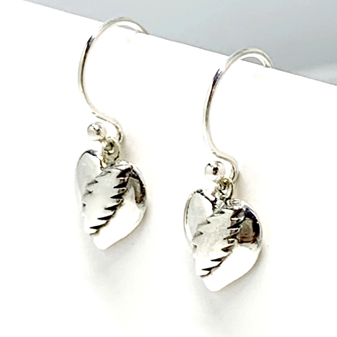NFA Heart & Bolt Sterling Silver Dangle Style Earrings