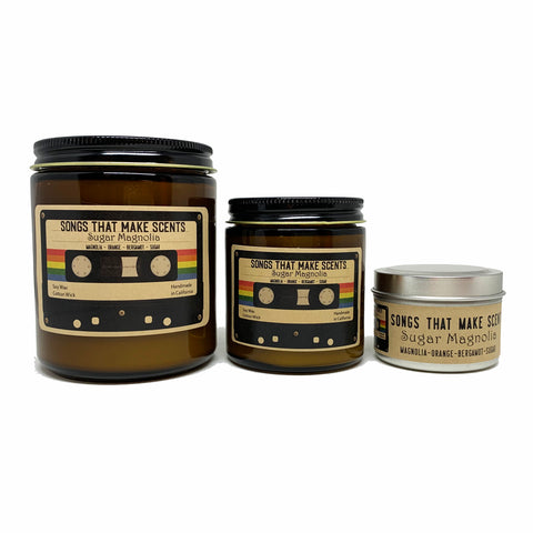 Sugar Magnolia Scented Soy Candle by Songs That Make Scents - Various sizes