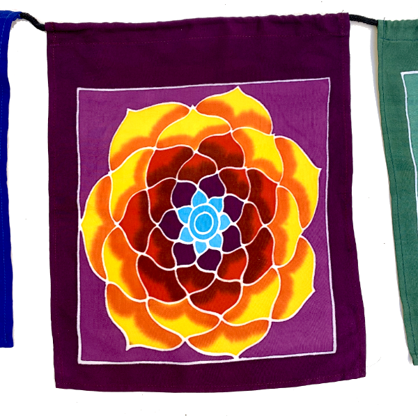 Yoga Prayer Flags - 7 Feet Long