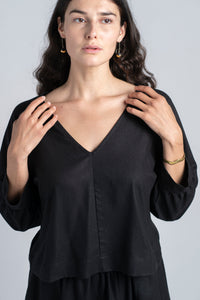 AJA TOP IN SILK NOIL
