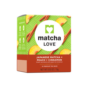Japanese Matcha + Peach + Cinnamon