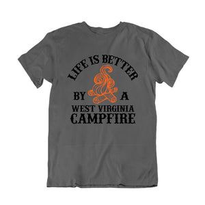 Life is Better by a West Virginia Campfire