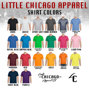 Little Chicago Custom Apparel Shirt Color Options