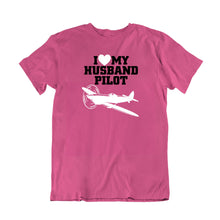 Load image into Gallery viewer, Love My Husband Pilot T-Shirt