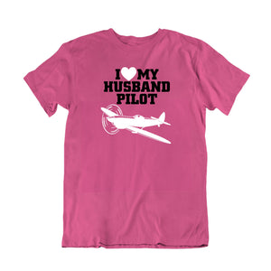 Love My Husband Pilot T-Shirt