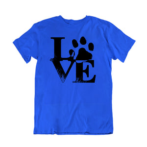 Love Dog Paw Print T-Shirt