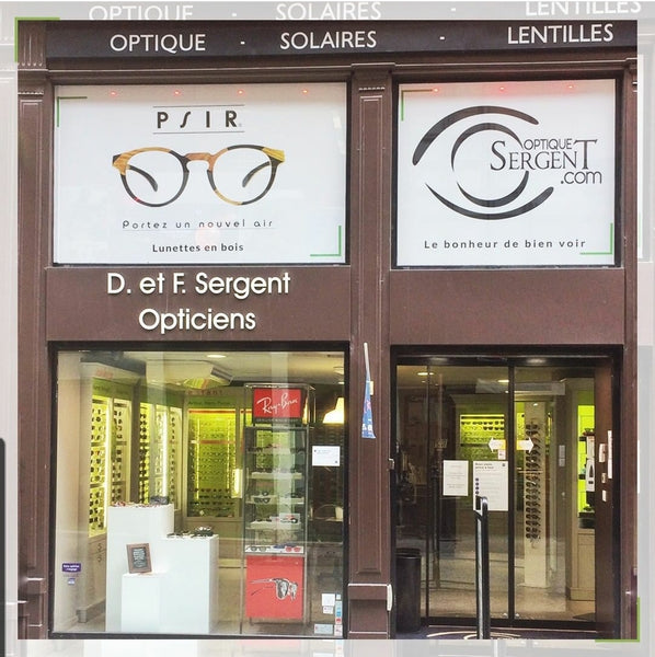 vitrine d'opticien