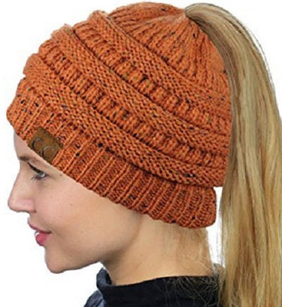 Image of CuteBeanie Soft Knit Ponytail Beanie
