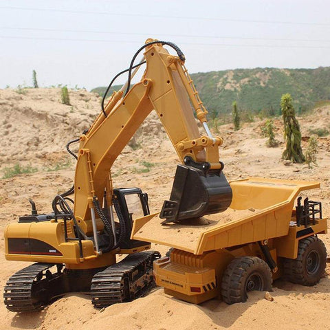 Image of Remote Control Excavator Full Functional Construction Tractor - SlickDecor.com