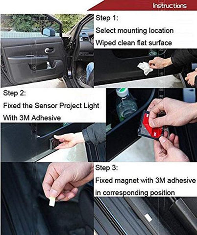 Image of Universal Wireless Car Projection LED Projector Door Shadow Light - SlickDecor.com