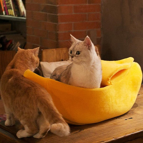 Image of Banana Cave Pets Bed - SlickDecor.com