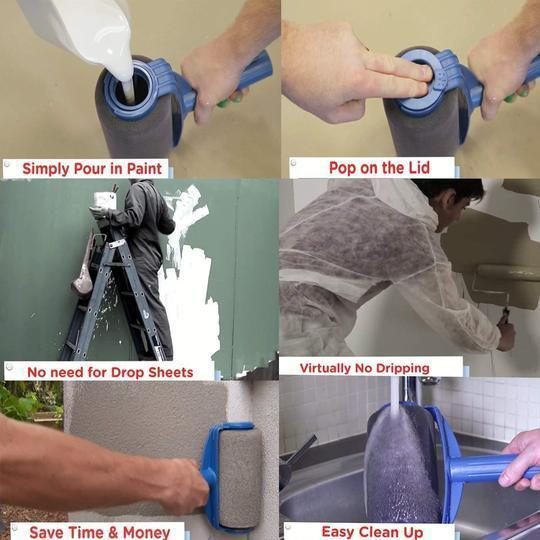 EROLLER™ - Multifunctional Paint Roller Kit - SlickDecor.com