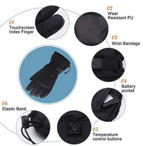Image of Ultimate Waterproof Heated Gloves - SlickDecor.com