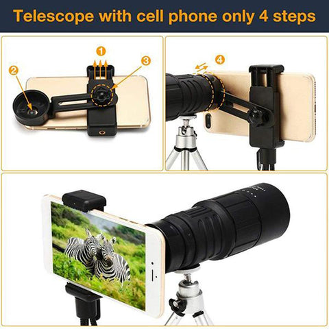 Image of 16X52 High Power Prism Monocular Telescope