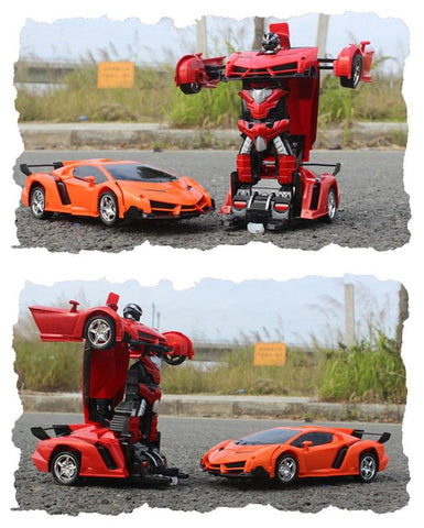 Image of 2 in 1 Robot Car Transformer RC Toy