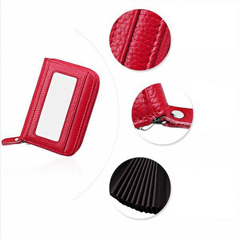 Image of RFID Genuine Leather Card Holder - SlickDecor.com