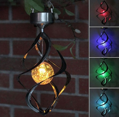 Image of LED Color Changing Solar Wind Chime Light