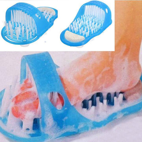 Image of Cleaning Brush Exfoliating Foot Shower Slippers