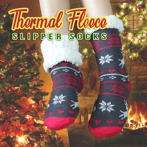 Image of Thermal Fleece Slipper Socks