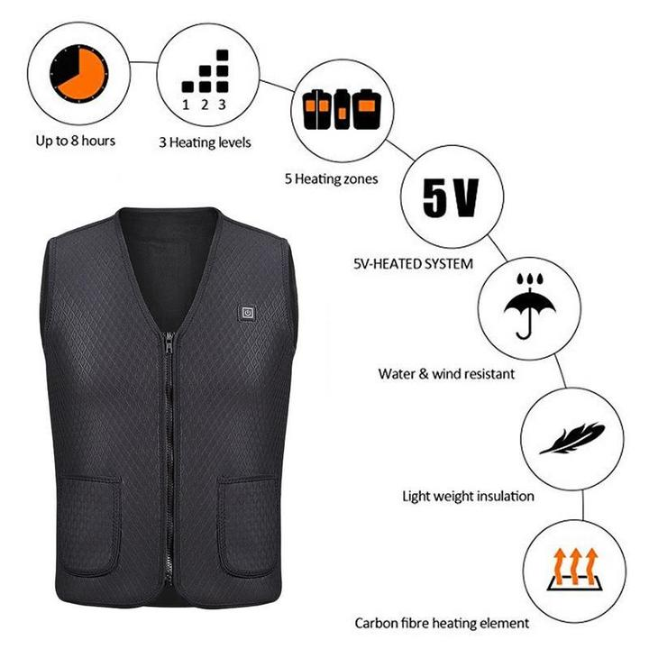 USB Heated Outdoor Vest - SlickDecor.com