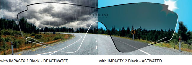 Impactx photochromic Black lenses