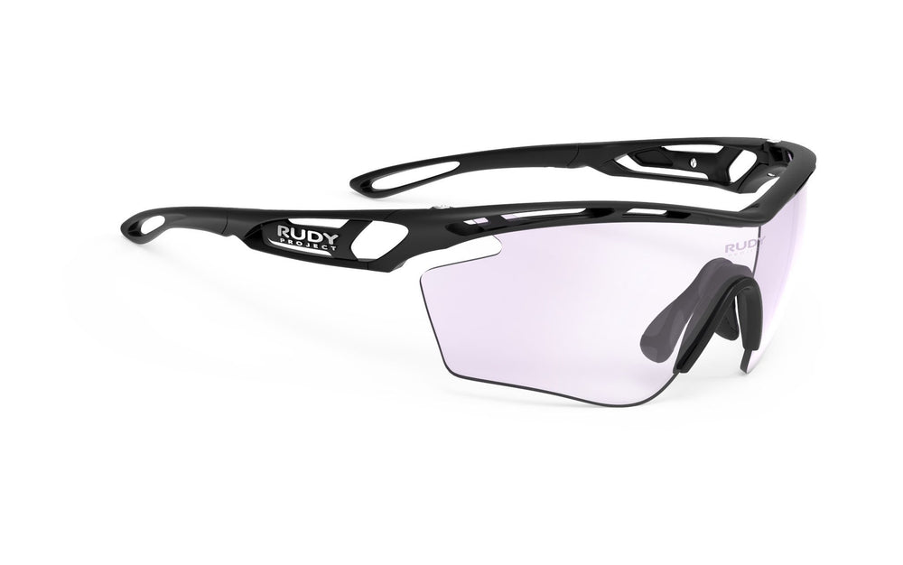 Rudy Project Tralyx Golf Matte Black Photochromic Laser Purple Lenses - Rudy Project