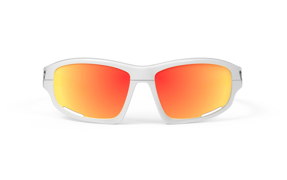 Rudy Project Airgrip White Gloss Multi Laser Orange Lenses - Rudy Project