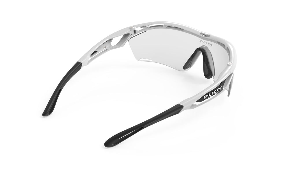 Rudy Project Tralyx Slim White Gloss Photochromic Black Lenses - Rudy Project