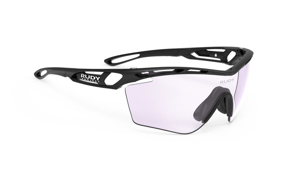 Rudy Project Tralyx Slim Golf Matte Black Photochromic Laser Purple Lenses - Rudy Project