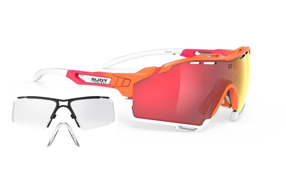 Rudy Project Cutline Mandarin Laser Red Lens Prescription Clip Package Rudy Project