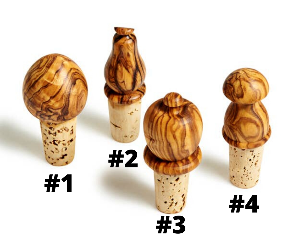NATURAL OLIVE WOOD WINE BOTTLE STOPPER