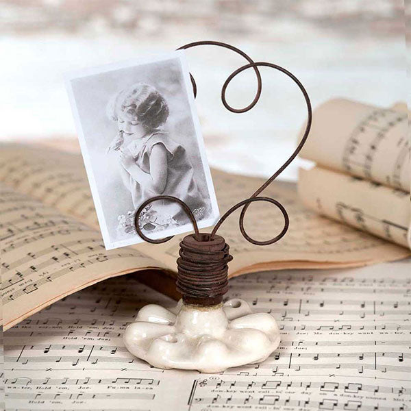 Vintage Drawer Pull Photo Holder