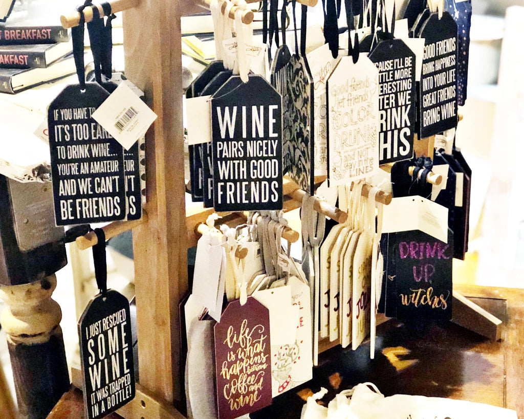 WINE BOTTLE WOOD TAGS
