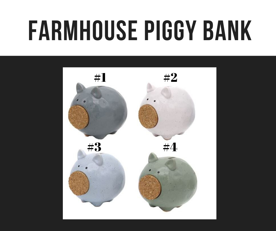 Farmhouse Piggy Bank