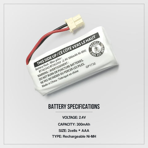 Image of Vtech Bt162342 Cordless Phone Battery