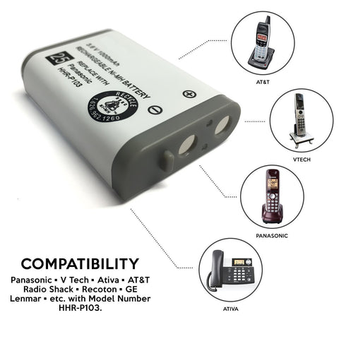 Image of Vtech Ip811 Cordless Phone Battery