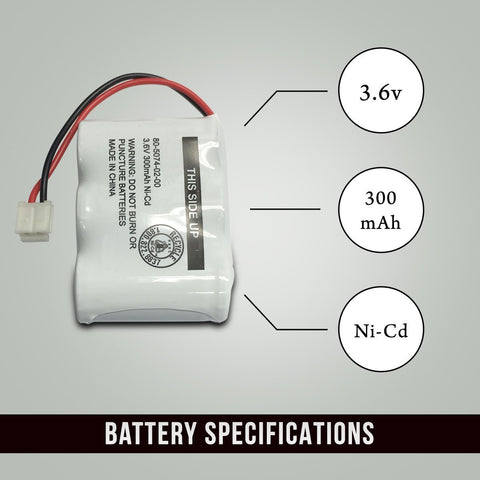 Image of AT&T  2422 Cordless Phone Battery
