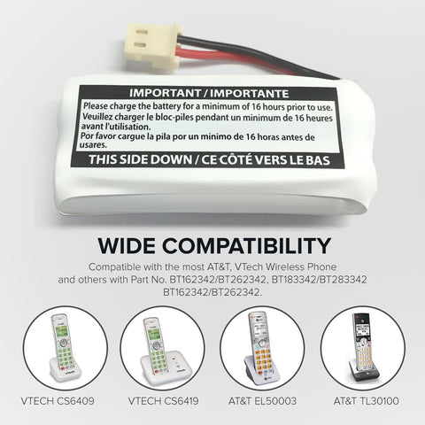 Image of Vtech Sn6146 Cordless Phone Battery