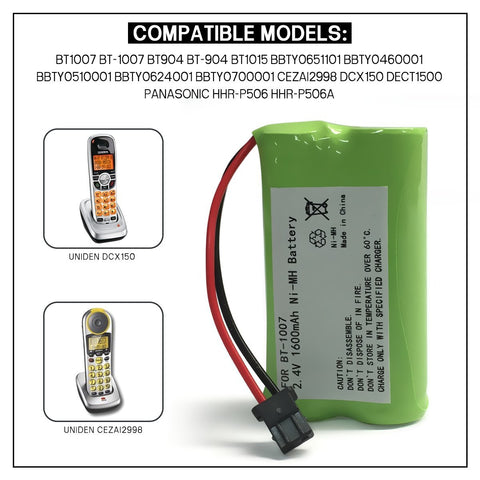 Image of Uniden Bt 1007 Cordless Phone Battery
