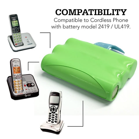 Image of Vtech 89 1318 00 00 Cordless Phone Battery